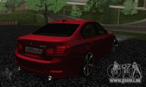BMW 3 Series F30 2013 für GTA San Andreas linke Ansicht