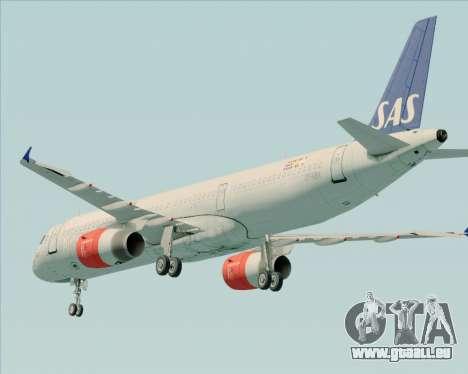 Airbus A321-200 Scandinavian Airlines System pour GTA San Andreas vue de dessous