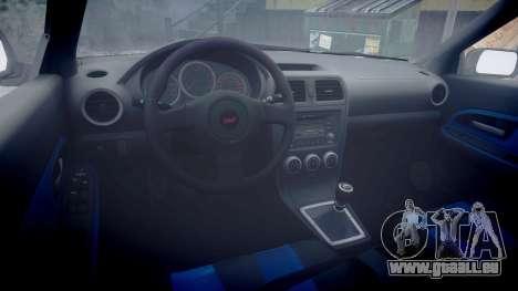 Subaru Impreza WRX STI pour GTA 4 Vue arrière