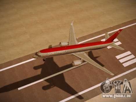 Boeing 757-251 Northwest Airlines für GTA San Andreas Rückansicht
