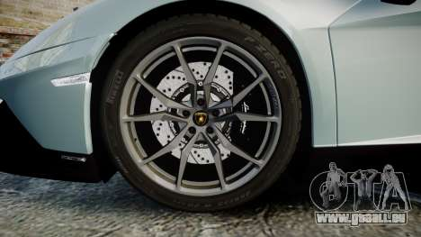 Lamborghini Aventador 50th Anniversary Roadster pour GTA 4 Vue arrière