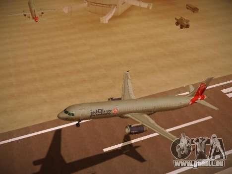 Airbus A321-232 jetBlue Boston Red Sox pour GTA San Andreas vue intérieure