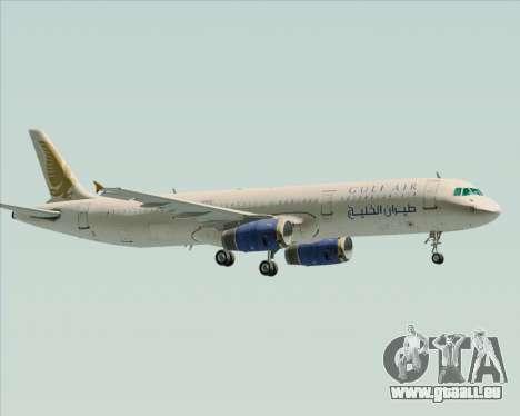 Airbus A321-200 Gulf Air pour GTA San Andreas vue intérieure