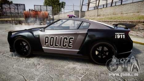 GTA V Annis Elegy RH8 Police [ELS] für GTA 4 linke Ansicht