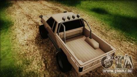 Karin Rebel 4x4 GTA 5 pour GTA San Andreas sur la vue arrière gauche