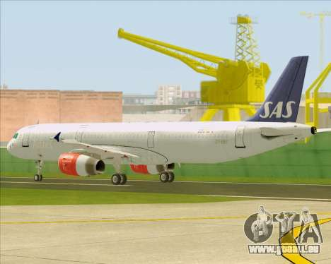 Airbus A321-200 Scandinavian Airlines System für GTA San Andreas obere Ansicht