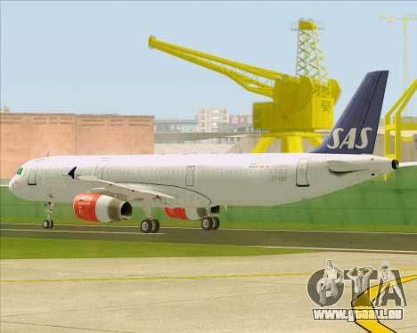 Airbus A321-200 Scandinavian Airlines System pour GTA San Andreas vue de dessus