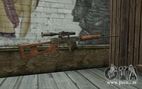 СВД (Battlefield: Vietnam) pour GTA San Andreas deuxième écran