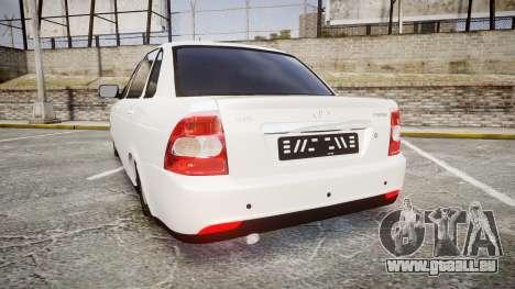VAZ-Lada Priora 2170 pour GTA 4 Vue arrière de la gauche