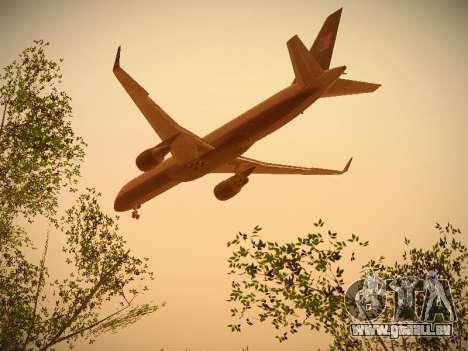 Boeing 757-224 United Airlines pour GTA San Andreas vue de dessus