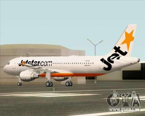 Airbus A320-200 Jetstar Airways pour GTA San Andreas vue de dessus