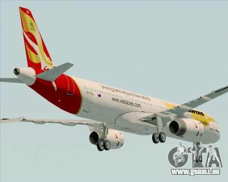 Airbus A321-200 Qantas (Wallabies Livery) pour GTA San Andreas vue de dessus