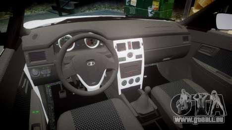 VAZ-Lada Priora 2170 pour GTA 4 est une vue de l'intérieur