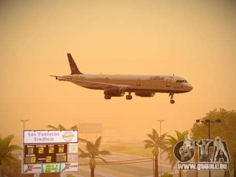 Airbus A321-232 Lets talk about Blue pour GTA San Andreas salon
