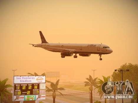 Airbus A321-232 Lets talk about Blue für GTA San Andreas Innen