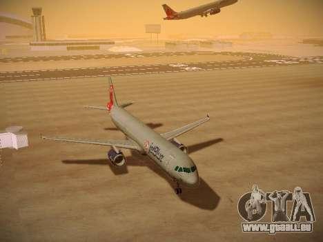 Airbus A321-232 jetBlue Boston Red Sox für GTA San Andreas Rückansicht