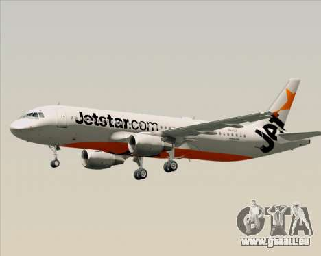 Airbus A320-200 Jetstar Airways pour GTA San Andreas vue de dessous