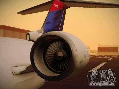 Bombardier CRJ-700 Delta Connection für GTA San Andreas obere Ansicht