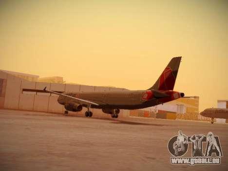 Airbus A321-232 jetBlue Boston Red Sox pour GTA San Andreas sur la vue arrière gauche