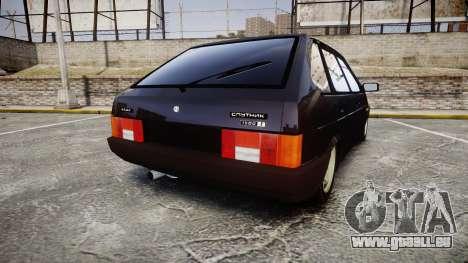 VAZ-2109 Abfluss für GTA 4 hinten links Ansicht