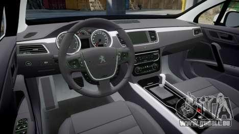 Peugeot 508 Republic of Srpska [ELS] pour GTA 4 est une vue de l'intérieur