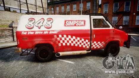 Kessler Stowaway Simpson für GTA 4 linke Ansicht