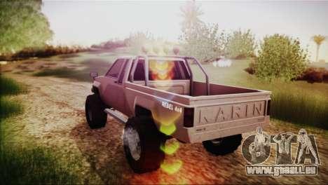 Karin Rebel 4x4 GTA 5 pour GTA San Andreas laissé vue