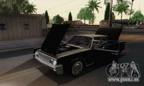 Lincoln Continental Berline (53А) 1962 (HQLM) pour GTA San Andreas vue arrière