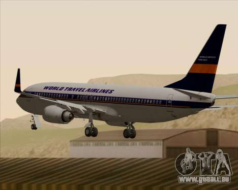 Boeing 737-800 World Travel Airlines (WTA) für GTA San Andreas Unteransicht