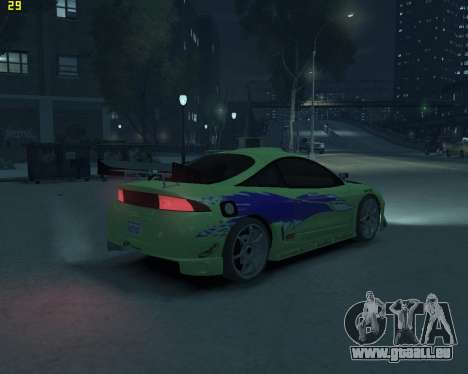 Mitsubishi Eclipse from Fast and Furious für GTA 4 hinten links Ansicht