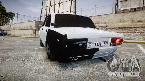 ВАЗ-2107 Avtosh Style pour GTA 4 Vue arrière de la gauche