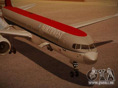 Boeing 757-251 Northwest Airlines für GTA San Andreas Unteransicht