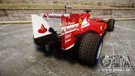 Ferrari F138 v2.0 [RIV] Alonso TFW pour GTA 4 Vue arrière de la gauche