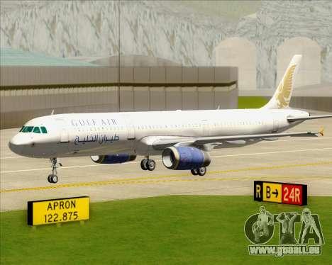 Airbus A321-200 Gulf Air pour GTA San Andreas vue de dessous