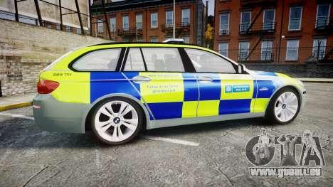BMW 530d F11 Metropolitan Police [ELS] pour GTA 4 est une gauche