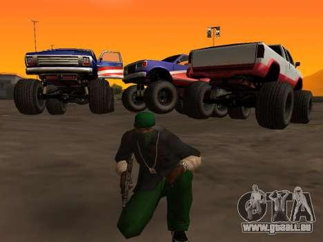 Neue Texturen Räder Monster für GTA San Andreas linke Ansicht