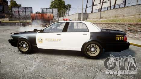 GTA V Vapid Cruiser LSS Black [ELS] für GTA 4 linke Ansicht