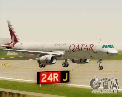 Airbus A321-200 Qatar Airways für GTA San Andreas Unteransicht