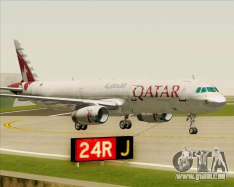 Airbus A321-200 Qatar Airways pour GTA San Andreas vue de dessous