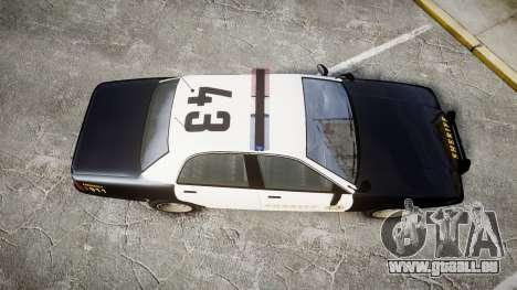 GTA V Vapid Cruiser LSS Black [ELS] für GTA 4 rechte Ansicht