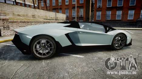 Lamborghini Aventador 50th Anniversary Roadster für GTA 4 linke Ansicht