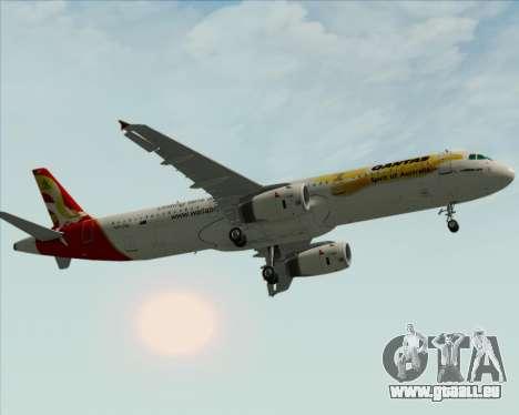 Airbus A321-200 Qantas (Wallabies Livery) pour GTA San Andreas vue de côté