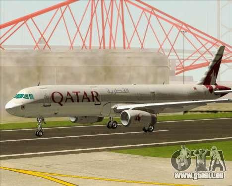 Airbus A321-200 Qatar Airways pour GTA San Andreas vue intérieure