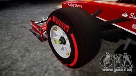Ferrari F138 v2.0 [RIV] Massa TSSD pour GTA 4 Vue arrière