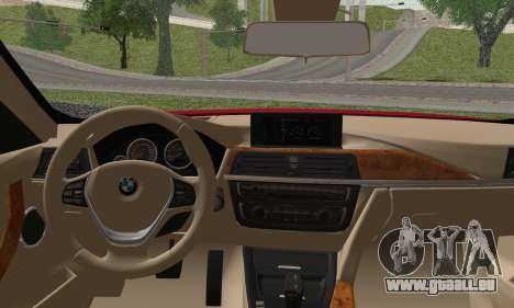 BMW 3 Series F30 2013 für GTA San Andreas zurück linke Ansicht