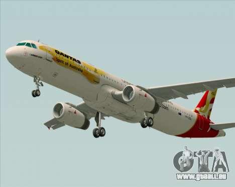 Airbus A321-200 Qantas (Wallabies Livery) pour GTA San Andreas vue arrière