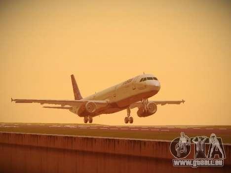 Airbus A321-232 Lets talk about Blue für GTA San Andreas linke Ansicht