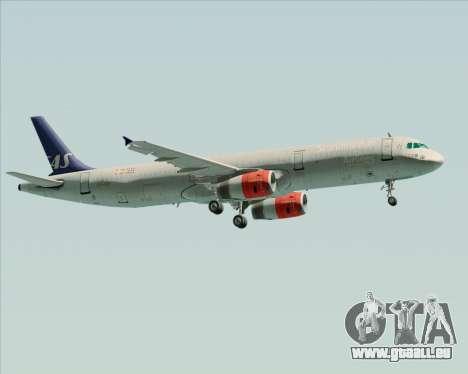 Airbus A321-200 Scandinavian Airlines System für GTA San Andreas Seitenansicht