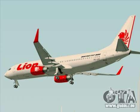 Boeing 737-800 Lion Air für GTA San Andreas Unteransicht