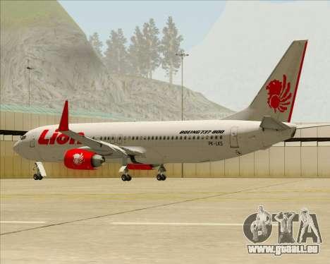Boeing 737-800 Lion Air für GTA San Andreas Räder
